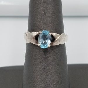 Jewelry - 925 Blue Topaz Solitaire Ring